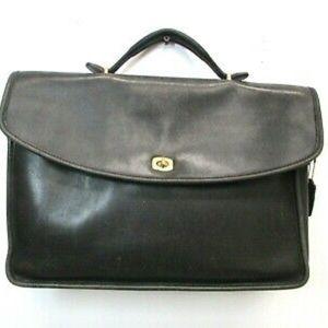Vintage Coach Morgan Briefcase, Black Leather Bag